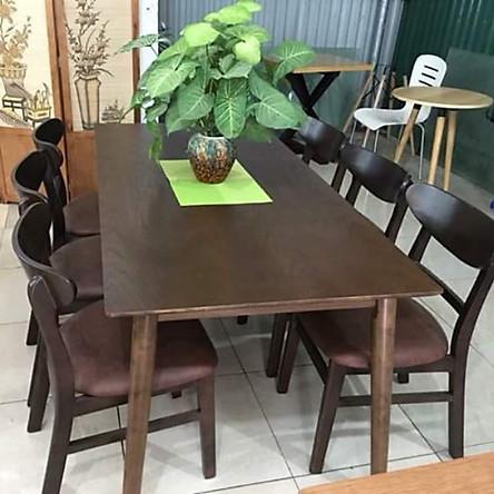 Bộ bàn ăn MG nâu 6 ghế