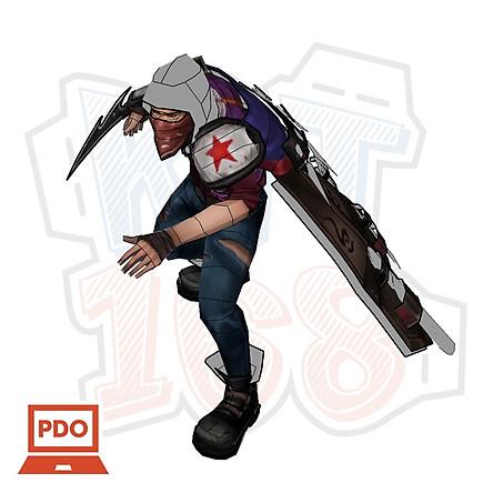Mô hình giấy Game Liên minh huyền thoại Talon the Blades Shadow (Assassins Creed) - League of Legends