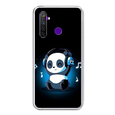 Ốp lưng điện thoại Realme 5 Pro - Silicon dẻo - 0334 PANDA05 - Hàng Chính Hãng