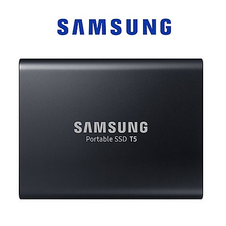 Ổ Cứng Di Động Gắn Ngoài SSD Samsung T5 1TB USB Type C 3.1 MU-PA1T0B/AM Xuất Xứ Korea - Hàng Nhập Khẩu