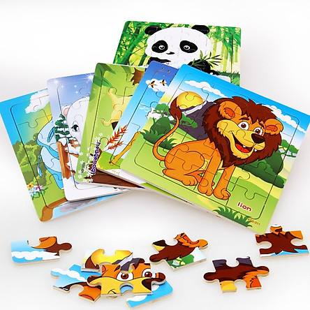 Set 10 tranh ghép 20 mảnh nhiều chủ đề Mk- Đồ chơi gỗ thông minh cho bé
