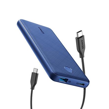 Pin Sạc Dự Phòng Tích Hợp Cổng USB Type-C In/Out Hỗ Trợ Power Delivery PD Anker PowerCore Slim PD 10000mAh - A1231 - Hàng Chính Hãng