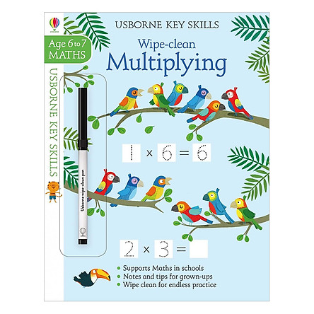 Usborne Usborne Key Skills Wipe-clean Multiplying 6-7