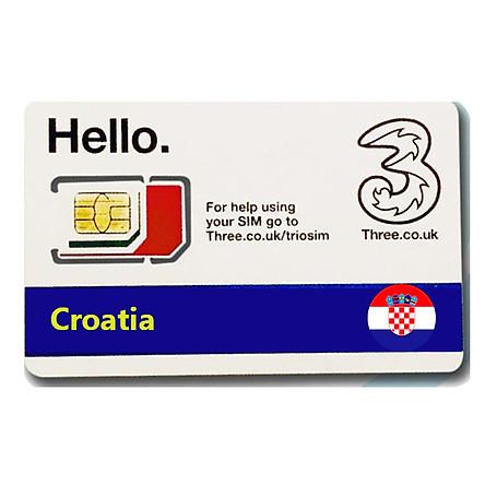 Sim du lịch Croatia 4g tốc độ cao