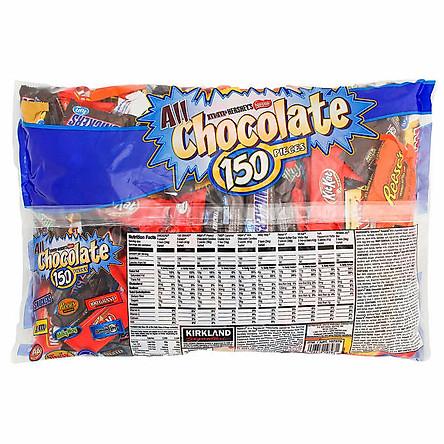 kẹo Socola Kirkland All Chocolate bag 150 viên