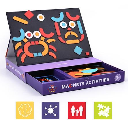 Mideer Magnet các chủ đề - xếp hình nam châm các chủ đề: Giao thông, mặt vui vẻ, hoạt động và trang phục