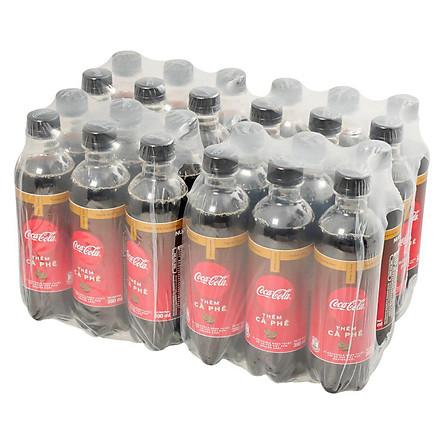 Lốc 24 Chai Nước Giải Khát Coca-Cola Vị Cà Phê (390ml / Chai)