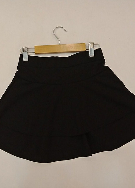 Chân váy, Chân váy xòe, Chân váy ngắn, Chân váy 2 tầng có lớp quần lót bên trong ( Màu đen)