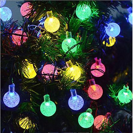 Dây Đèn Trang Trí 8M - 40 Bóng Tròn Bọt Khí Độc Đáo Trang Trí Noel , Lễ , Tết