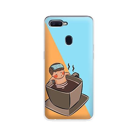Ốp lưng dẻo cho điện thoại Oppo F9 - 01093 7896 RELAX02 - in hình chibi dễ thương - Hàng Chính Hãng