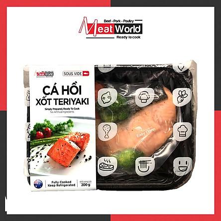 [Chỉ Giao HCM] - Cá Hồi Xốt Teriyaki 200g - Giàu Protein Giúp Tăng Cơ & Giảm Mỡ