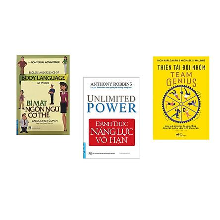 Combo 3 cuốn sách: Bí Mật Ngôn Ngữ Cơ Thể + Đánh Thức Năng Lực Vô Hạn + Thiên tài đội nhóm