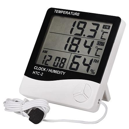 Đồng hồ đo nhiệt độ và độ ẩm 3 chức năng HTC-2