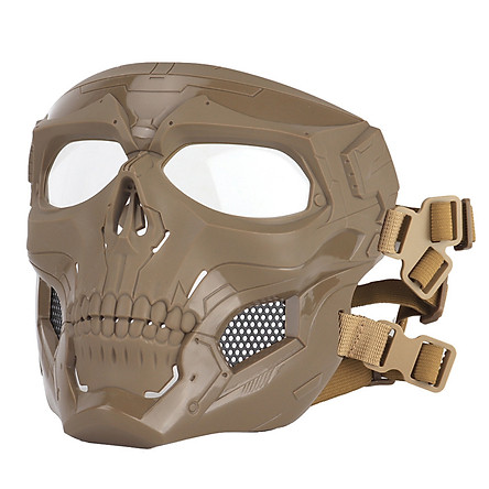 Skeleton Messenger Mask CS Full Face Protective Mask COSPLAY Army Fan Field Tactical Equipment Adaptation FAST Army