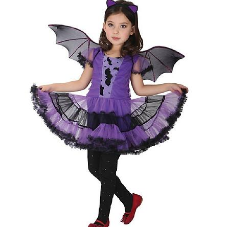 Hóa trang Halloween - Váy đầm cô bé người dơi
