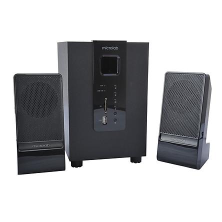 Microlab M100U Bluetooth Edition Support Card SD Card, U Disk 2.1 Multimedia Speaker Audio Bluetooth Audio Black Subwoofer