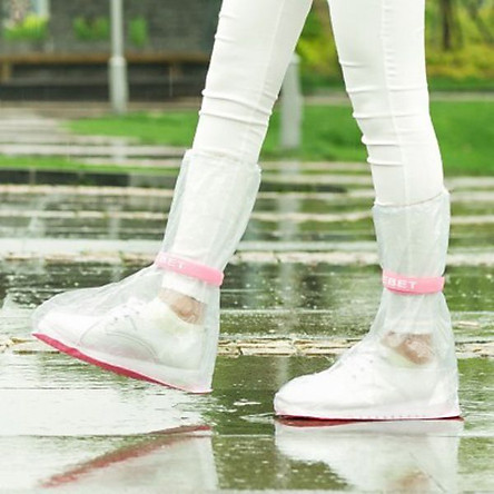 Ủng bọc giày đi mưa cổ cao chống trơn trượt - 33x14 cm