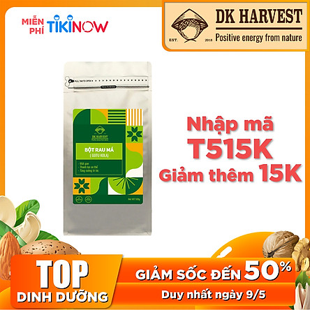 Bột Rau Má Nguyên Chất DK Harvest 100g - Thanh nhiệt mùa hè, giữ trọn mùi vị như Rau Má Tươi.