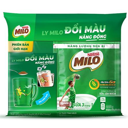Thức uống lúa mạch Nestlé MILO Sữa 3 trong 1 - Tặng 1 ly nóng lạnh (Mẫu ngẫu nhiên)