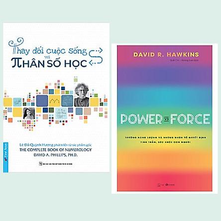 Combo 2 cuốn: Thay Đổi Cuộc Sống Với Nhân Số Học + Power Vs Force - Trường Năng Lượng Và Những Nhân Tố Quyết Định Tinh Thần Và Sức Khỏe Con Người
