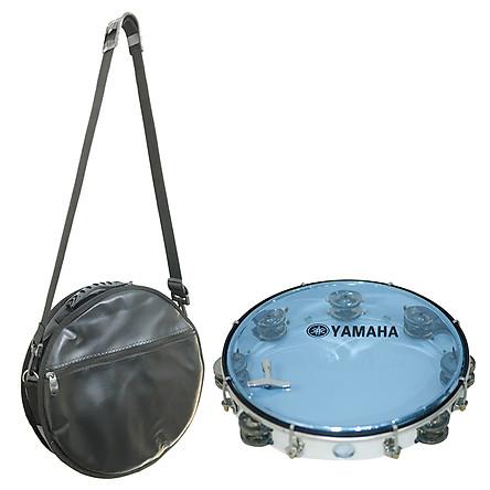 Combo Trống Lắc Tay Và Bao Đựng Lục Lạc Gõ Bo Tambourine Yamaha MT6-102B (Xanh)