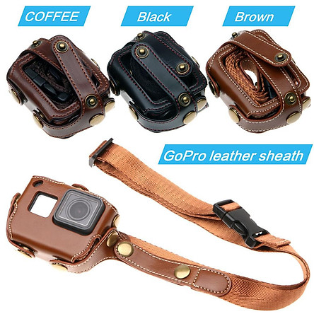 Protective Case for Gopro Hero 7 6 5 Black Edition PU Leather Bag Case Protection Cover