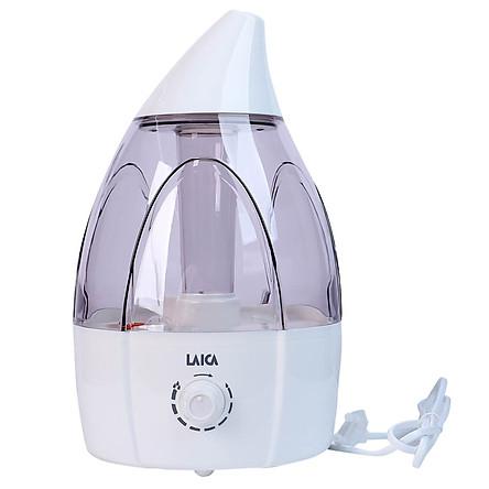 Máy tạo ẩm, phun sương siêu âm LAICA HI3013, chạy êm, hạt sương siêu mịn, có đèn - Hàng chính hãng