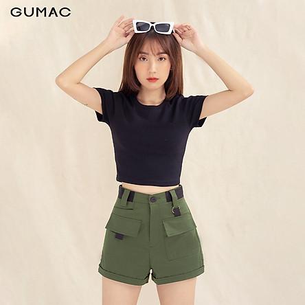 Quần short nữ QA1085 GUMAC thiết kế phối đai
