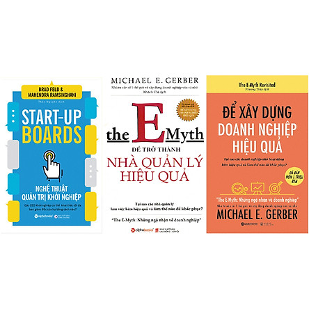Combo Cách Quản Lý Hiệu Quả Để Các Doanh Nghiệp Start-Up Thành Công ( Nghệ Thuật Quản Trị Khởi Nghiệp + Để Trở Thành Nhà Quản Lý Hiệu Quả + Để Xây Dựng Doanh Nghiệp Hiệu Quả ) Tặng BookMark Romantic