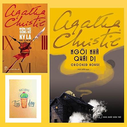 Combo Agatha Christie : Những Chiếc Đồng Hồ Kỳ Lạ và Ngôi Nhà Quái Dị ( Tặng Kèm Sổ Tay Xương Rồng)