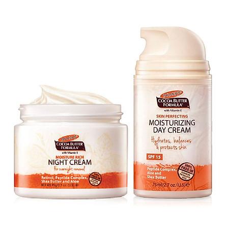 Kem dưỡng sáng da chống lão hóa, dưỡng ẩm ban ngày Palmer's Cococa Butter Moisturizing Day Cream SPF 15 75ml + Tặng kem dưỡng ban đêm 75g