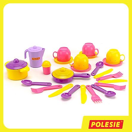 Bộ Đồ Chơi Nấu Ăn Cho 4 Người, Đồ Chơi Giáo Dục, An Toàn, Siêu Bền Cho Bé - Polesie Toys 54920