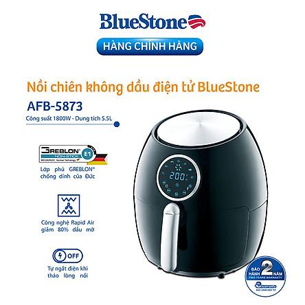 Nồi Chiên Không Dầu Điện Tử Bluestone AFB-5873 (5.5 Lít) - Hàng Chính Hãng