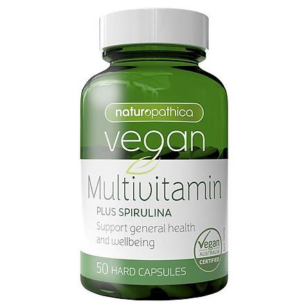 Naturopathica Vegan Multi Vitamin Plus Spirulina 50 Capsules