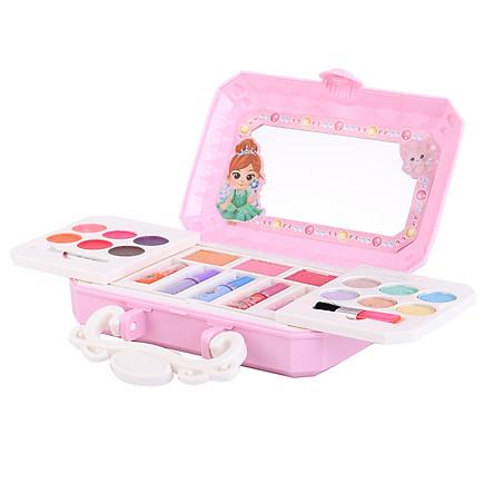 Bộ đồ chơi trang điểm mỹ phẩm xách tay cho bé gái, chất liệu nhựa ABS an toàn