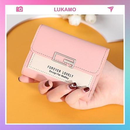 Ví nữ gấp 3 mini MADLEY dễ thương nhỏ gọn bỏ túi cao cấp nhiều ngăn đựng tiền LUKAMO VD220