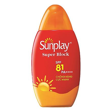 Sữa Chống Nắng Cực Mạnh Sunplay Super Block SPF 81 PA++++ (70g) + Tặng Kem Rửa Mặt Hada Labo (25g)