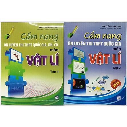 Cẩm Nang Ôn Luyện Thi THPT Quốc Gia Đại Học Cao Đẳng Môn Vật Lí (2 tập) (tặng kèm 2 bookmark như hình)
