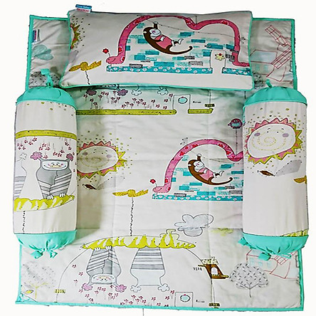 Bộ 4 món ga gối Sleep Baby Colorful Nature - F162