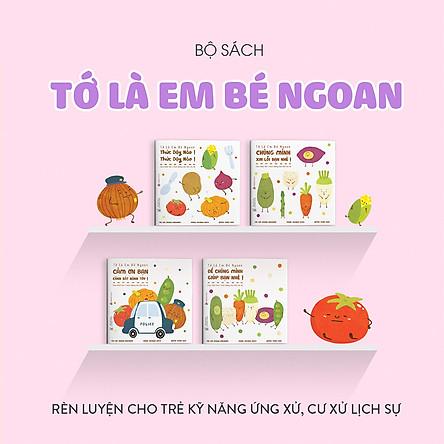 Combo 4 cuốn truyện tranh Ehon Nhật Bản - Tớ là em bé ngoan (Thức dậy nào, Chúng mình xin lỗi bạn nhé, Để chúng mình giúp bạn nhé, Cảm ơn bạn cảnh sát hành tây) - Dành cho trẻ từ 2 - 8 tuổi