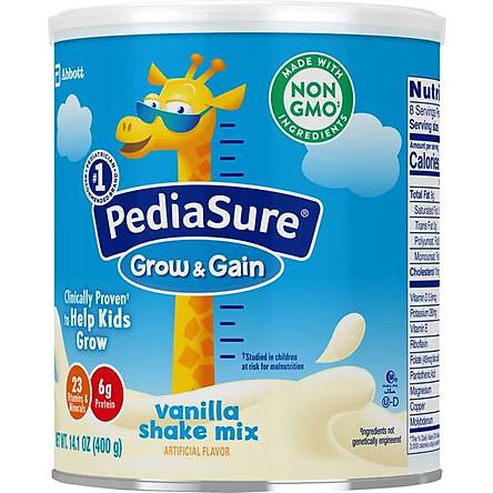 Sữa bột dinh dưỡng PediaSure Grow & Gain  hương Vani 400gr (Mẫu mới - Non-GMO)
