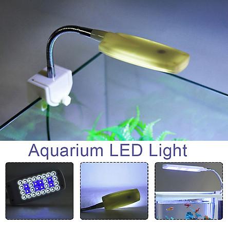 Đèn Led Cho Bể Cá Mini Có Thể Bẻ Cong Trắng Xanh