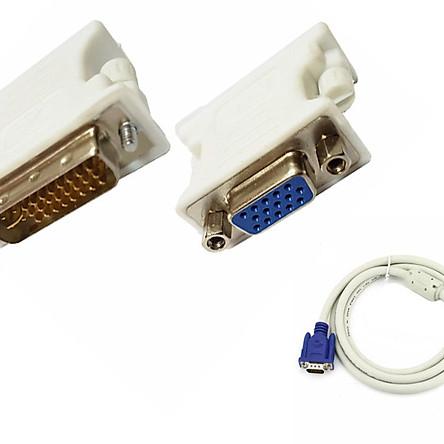 Đầu chuyển DVI (24+5) sang VGA tặng kèm cáp VGA chống nhiễu 1,5m