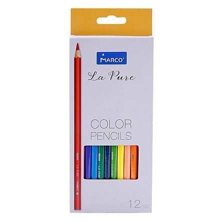 Bút Chì Tô 12 Màu La Pure (Hộp Giấy) - Marco