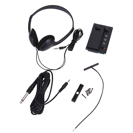 Electric Violin Pickup EQ Equalizer Adjustable Tone Volume Control Electric Violin Accessories with Headphone