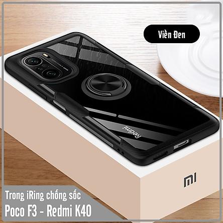 Ốp lưng cho Xiaomi Poco F3 - Redmi K40 Trong Suốt Chống Sốc iRing Viền Màu