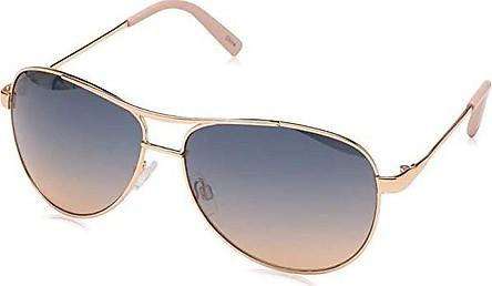 Jessica Simpson J106 Metal Aviator Sunglasses with 100% UV Protection, 60 mm