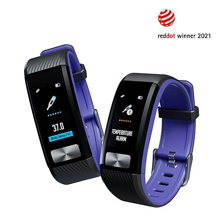 Đồng Hồ Đeo Tay Thông Minh J2 Đài Loan - Đo Thân Nhiệt, Điện Tâm Đồ ECG, Nhịp Tim theo Kĩ Thuật Tích Đồ PPG, Đo Nồng Độ Oxy Trong Máu SPO2, Đo Huyết Áp, Nhịp Tim, Thông Báo Cuộc Gọi, Tin Nhắn Cho Cả Iphone và Android - Hàng Nhập Khẩu