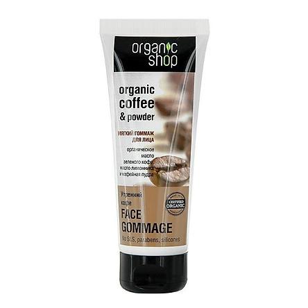 Kem tẩy da chết dành cho mặt chiết xuất cà phê Organic Shop của Nga ( 75ml) - HÀNG CHÍNH HÃNG