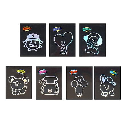 BTS BT21 Official Authentic Goods Shine Sticker 7SET